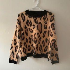 MinkPink Leopard Print Sweater